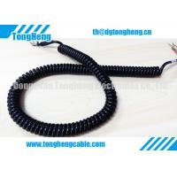 Buy cheap Glossy Black PUR Jacket Customized Retractable Spring Cable High Resilience Force from wholesalers