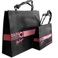 Buy cheap Black Non Woven Carry Bag Pink Printing from wholesalers