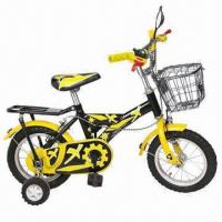 Buy cheap Yellow Children's Bicycle with Basket and Steel Chainwheel Set, Aluminum Rim and Carrier, 12 Inches from wholesalers