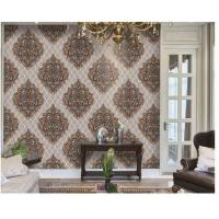 China Washable PVC Vinyl Wallpaper , Classic Damask Wallpaper Designs For Living Room on sale