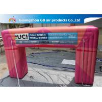 Buy cheap Customized Pink Square Inflatable Door Archway Make 0.6mm PVC Tarpaulin Airtight product