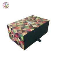 China Rectangle Wrapping Paper Box Embossing Printing Handling OEM Service on sale