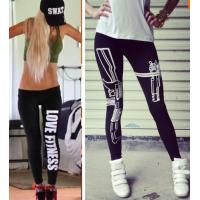 Buy cheap WomenSports Bodybuilding Gym Legging Pants Work out Printed Capris  sexy Fitness Leggings from wholesalers