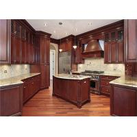 Buy cheap Red / Black Solid Wood Kitchen Cabinets With American Standard Sink And Faucet from wholesalers