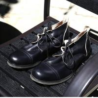 Buy cheap Burnished Finishing Mens Leather Dress Shoes Lace - Up Handmade Italian Leather Shoes from wholesalers
