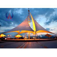 Buy cheap Heavy Duty Tensile Fabric Structures Large Square Shade Sail Steel Q235 Frame from Wholesalers
