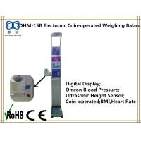 Buy cheap Electronic coin-operated height and weight measuring scale with bmi blood pressure from wholesalers