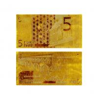 Buy cheap 24k Gold €5 Euro Note Gold Banknote Gifts , Gold Foil Paper Money from wholesalers