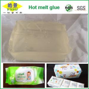 Buy cheap Light Yellow Transparent Hot Melt Block Hot Melt Pressure Sensitive Adhesive For Tissue Bag from Wholesalers