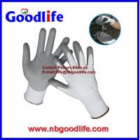 Buy cheap HPPE fiber pu or nitrile coated level 5 cut resistant gloves from wholesalers
