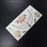 Buy cheap Body Metallic Golden temporary Tattoo Sticker Metal Gold Custom Flash Tattoos from wholesalers