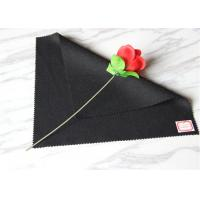 Thick Heavyweight Wool Fabric In Stock , Black Wool Coating Fabric With Twill