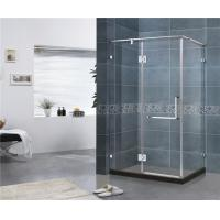 Buy cheap Square Three Sides Frameless Hinged Shower Door With 10MM Tempered Glass from wholesalers