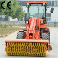 Buy cheap articulated loader brush sweeper TL2500 with floor dust sweeper product