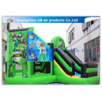 Buy cheap Green Ben 10 Theme Bouncy Castle Slide , Inflatable Jumping Castle For Kids product