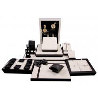 Buy cheap High Glossy Black Wooden Window Jewelry Display Set Jewellery Display Stand from wholesalers
