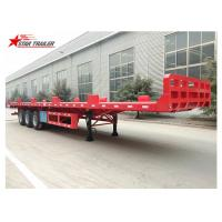Buy cheap Heavy Equipment Transport Drop Deck Semi Trailer Manually Operated Or Hydraulic Type from wholesalers