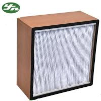 Buy cheap Wooden Frame High Efficiency HEPA Filter H14 With Clapboard OEM Accepted from wholesalers