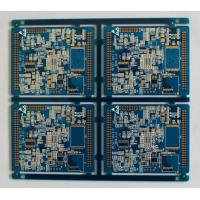 Quality 1oz FR4 Silkscreen Multilayer PCB Board Blue Solder Mask 1.6MM Thickness for sale