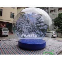 Buy cheap Custom Logo PVC Tarpaulin PVC Dome Inflatable Snow Globe for Christmas Promotion from wholesalers