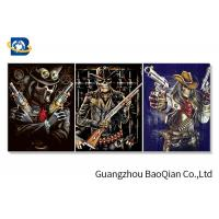 Buy cheap Flipped Customized 3D Framed Picture Of Animation Cool Skeleton For Indoor Decoration from wholesalers