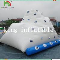 Buy cheap White Heat Sealed Inflatable Water Toys / PVC Logo Printed Iceberg For Amusement from wholesalers