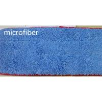Buy cheap 13 * 47 Microfiber Dust Mop Blue Twisting Fabric Red Stitched Floor Cleaning product