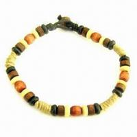 Buy cheap Hemp Wrapped Beaded Bracelet with Fashionable and Unique Design from wholesalers