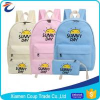 Buy cheap Women Fashion Cartoon Book Bag Canvas Materials Outdoor School Bag For University Students from wholesalers