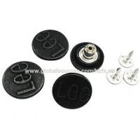 Buy cheap Jeans button with embossed logo,various colors and sizes are available from wholesalers