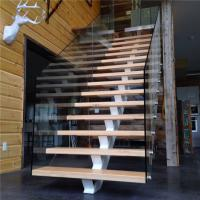 Buy cheap L shape interior stair railings with pvc stairs handrail laminate glass railing from wholesalers