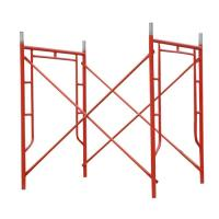 Buy cheap Red Powder Coated Tubular Steel Frame Scaffolding 1524 x 1524 mm from wholesalers