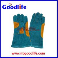 Buy cheap 16 Long welding cow spllit leather Welding gloves from wholesalers
