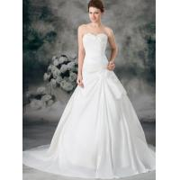 Buy cheap Bridal Taffeta Ruffle A Line Strapless Sweetheart Empire Line Wedding Dresses from wholesalers