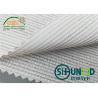 Buy cheap Smooth Canvas Interlining For Tailoring Materials / Men Suits Fusible Interlining Fabric product