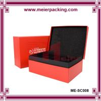 China Luxury red color printing books shape clamshell packaging recycled paper cosmetic gift boxes on sale