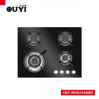 Buy cheap OUYI Black Tempered Glass 4 Different Size Sabaf Burner Gas Stoves from wholesalers