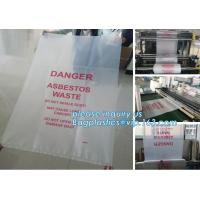 Buy cheap LDPE material customized Logo compostable Industrial heavy duty clear plastic asbestos packaging garbage bags, bagplasti from wholesalers