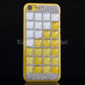 China Square Gem Rhinestone Hard Case For iPhone 5C on sale