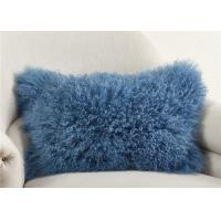 "Luxury 100% Real Mongolian Fur Pillow For Home Bedroom Decorative 12"" X 20"""