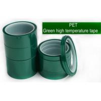 Buy cheap Green Polyester Silicone Adhesive Electroplating Tape Heat Resistant PET Powder Coating Tape Green Masking Tape bagplast from wholesalers