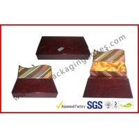 Buy cheap Crocodile Embossed Leather Square Luxury Gift Boxes With Golden Satin Covering from wholesalers