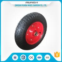 Buy cheap Carbon Steel Pneumatic Rubber Wheels Ball Bearing , Pneumatic Wagon WheelsOEM from wholesalers