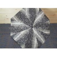 Sexy Snakeskin Pattern Auto Folding Umbrella , Mini Folding Umbrellas For Windy Conditions