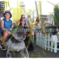 Buy cheap Hansel Animal Rides For Sale Coin Operated Kiddie Rides Walking Stuffed Animals Bike in mall from wholesalers
