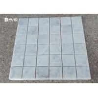 Buy cheap 36 Pcs Square Mosaic Tile Sheets Carrara Marble For Bathroom / Shower / Kitchen from wholesalers