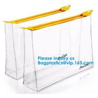 China Clear Small Transparent Poly PVC Zipper File Wallet Packaging Women Travel Clear Wash Organizer Pouch on sale