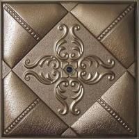 Buy cheap Leather Modern 3D Wall Panels Moisture Proof WIth Highly Embossed from wholesalers