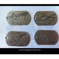 Buy cheap Made in China Eco-friendly off-set Printing Cheap Military Metal Dog Tag from wholesalers