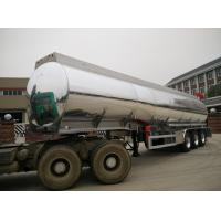 China Aluminum Fuel Tank Semi Trailer 42000 Liters With BPW Axle And 7500kg Weight on sale